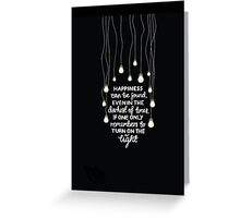 H QUOTE Greeting Card