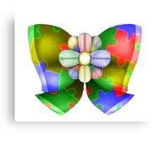 Colorful bow Canvas Print
