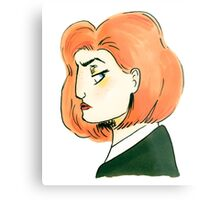 skeptical scully Metal Print
