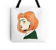 skeptical scully Tote Bag