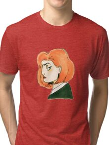 skeptical scully Tri-blend T-Shirt