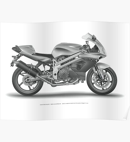 Falco Motorcycle in digital detail Poster