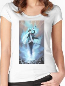 Blue Exorcist Anime Women's Fitted Scoop T-Shirt