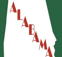 """Welcome to Alabama The Beautiful"", Vintage Road Sign 70s, USA Sticker"