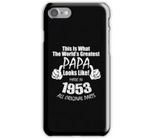 Greadtest PAPA - Made in 1958 iPhone Case/Skin