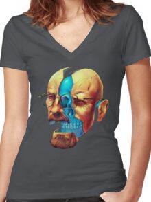 BREAKING BAD WALTER´S HEAD Women's Fitted V-Neck T-Shirt