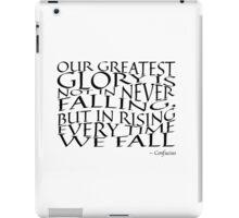Confucius - Falling - Typography iPad Case/Skin