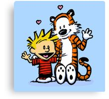 LOVEABLE CALVIN AND HOBBES : TSHIRT Canvas Print