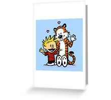 LOVEABLE CALVIN AND HOBBES : TSHIRT Greeting Card