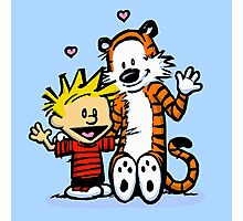 LOVEABLE CALVIN AND HOBBES : TSHIRT Photographic Print
