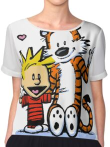 LOVEABLE CALVIN AND HOBBES : TSHIRT Chiffon Top