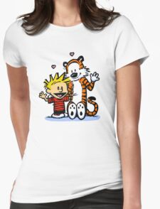 LOVEABLE CALVIN AND HOBBES : TSHIRT Womens Fitted T-Shirt