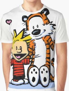 LOVEABLE CALVIN AND HOBBES : TSHIRT Graphic T-Shirt