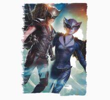 LOT - Hawk Man & Girl Paint Splash Kids Tee