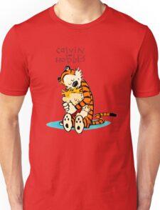 CALVIN HUG HOBBES : TSHIRT Unisex T-Shirt