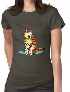 CALVIN HUG HOBBES : TSHIRT Womens Fitted T-Shirt