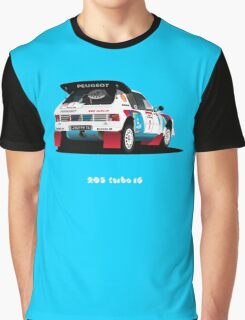 PEUGEOT 205 TURBO 16 RALLY CAR Graphic T-Shirt