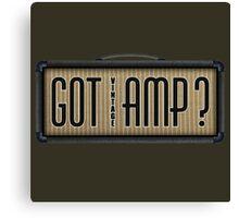 Got Vintage Amp Canvas Print