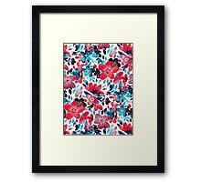 Happy Red Flower Collage Framed Print