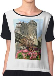 Scottish Tower. The East or Scottish Tower (back view)  Chiffon Top