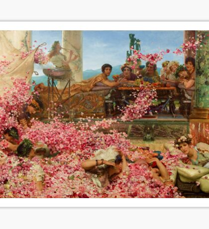 The Roses of Heliogabalus by Sir Lawrence Alma-Tadema Sticker