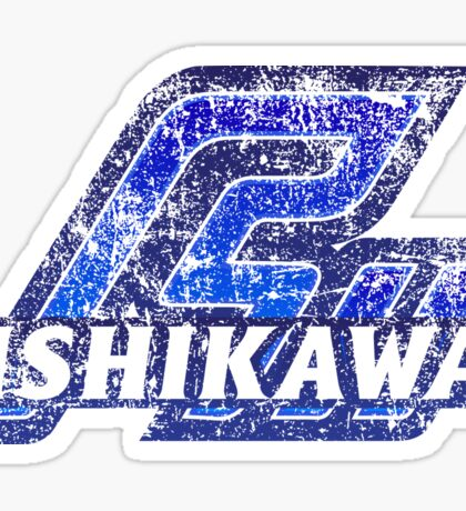Ishikawa Prefecture Japanese Symbol Distressed Sticker