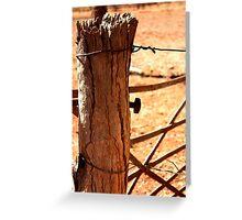 Outback Fence Post - Millstream Homestead, Pilbara Greeting Card