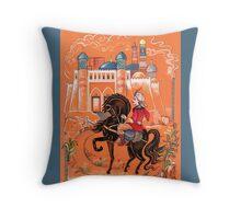 Prince on horse.  Throw Pillow