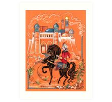 Prince on horse.  Art Print