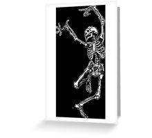 Dancing Skeleton - Transparent Background Greeting Card
