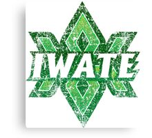Iwate Prefecture Japanese Symbol Distressed Canvas Print