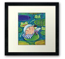 Waterlily elf Framed Print