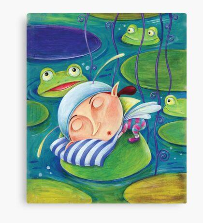 Waterlily elf Canvas Print