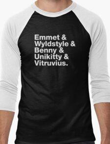 Brick Names Men's Baseball ¾ T-Shirt