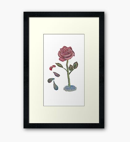 Rose Drop Framed Print