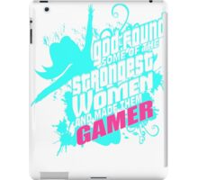 God found Gamer funny shirt!!! iPad Case/Skin