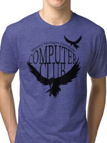 Computer Club Crow - Black Tri-blend T-Shirt