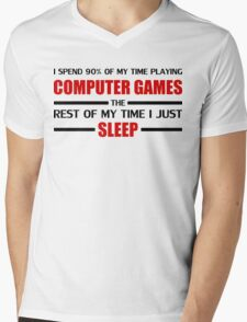 Computer Games Mens V-Neck T-Shirt