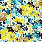Happy Yellow Flower Collage by micklyn