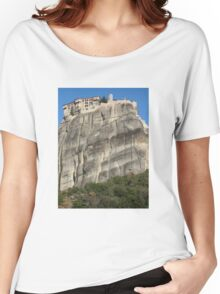 Great Wonder Of Meteora, Varlaam Monastery, Greece Women's Relaxed Fit T-Shirt