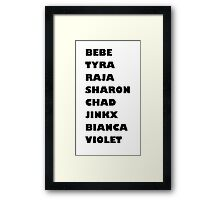 Drag Race Winners Framed Print