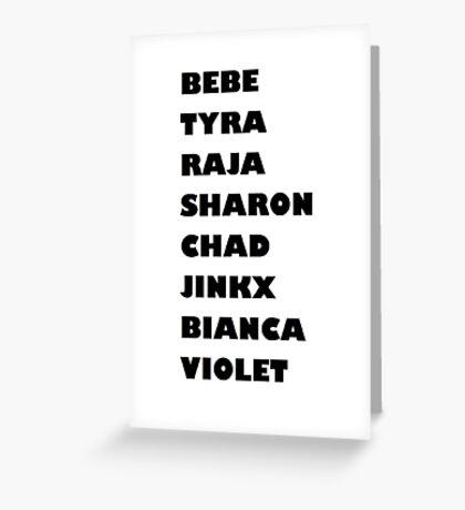 Drag Race Winners Greeting Card