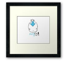 avatar aang angry! Framed Print