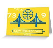 GSW record 73 9 Greeting Card