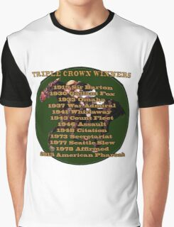 Horse Racing Triple Crown Winners Graphic T-Shirt