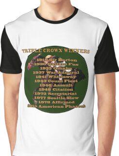 Horse Racing Triple Crown Winners Graphic T-Shirt