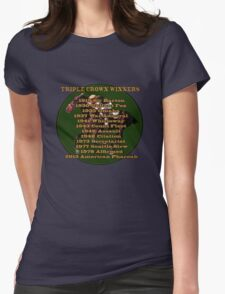 Horse Racing Triple Crown Winners Womens Fitted T-Shirt
