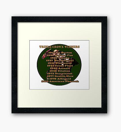 Horse Racing Triple Crown Winners Framed Print