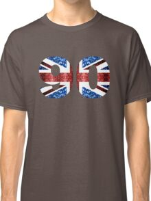 Sparkly flag of United Kingdom UK number 90 Classic T-Shirt