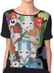Castle Crasher Knight and Pets Chiffon Top